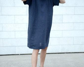 Wide And Loose Dress | Oversized Dress | Maternity Dress | Minimal Linen Tunica | Handmade Dress | Long Shirt | Washed Linen | Women Dress