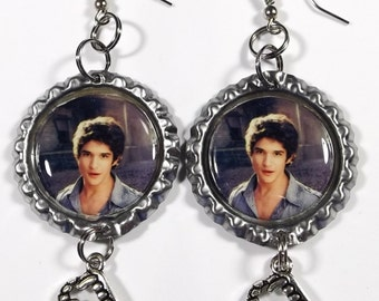 Tyler Posey Earrings - 1 Pair - With Werewolf Fang Charms