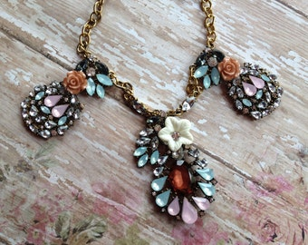 Statement Necklace, Necklace, Vintage Look Necklace, Gift For Her