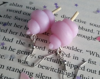 Cotton Candy Polymerclay Earrings - Nickel free