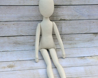 """Blank doll body-18"""",blank rag doll, ragdoll body,the body of the doll made of cloth"""