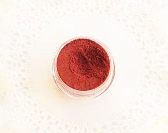 BEET + HIBISCUS: Plant Blush & Eyeshadow Herbal Makeup • Organic Hibiscus, Beet, Rose + Red Clay • 100% Vegan Ayurvedic Plant Blush Powder