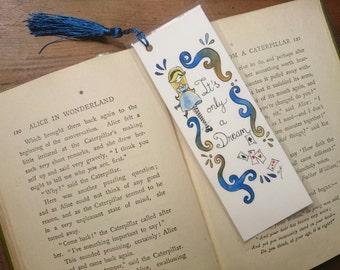Alice in Wonderland bookmarks Alice Unique bookmarks Handmade bookmarks Watercolor bookmark Unique gifts