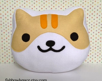 Neko Atsume cat face pillow / cushion ~ choose your favourite cat