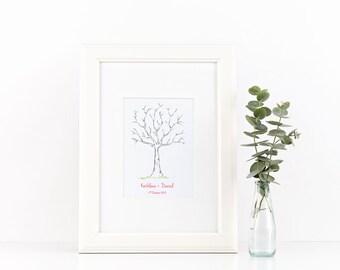 Wedding Thumbprint Tree Guestbook