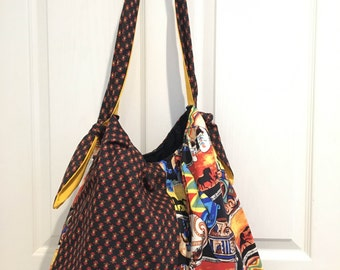 Extra Large Two-pattern Tote