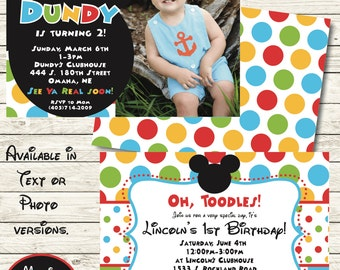 Mickey Mouse Invitation - Mickey Mouse Clubhouse Invitation - Photo Invite - Mickey Mouse Party - Mickey Mouse Birthday - Mickey Mouse Decor