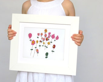 Personalized your childs art - Custom Embroidery - 80th birthday gifts - Your kids art - Gift ideas for grandma - Grandma birthday gifts