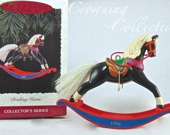 1996 Hallmark Rocking Horse Keepsake Ornament Christmas Pony 16th in Series #16 FINAL Vintage Linda Sickman