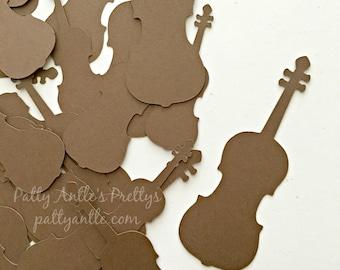 Violin Die Cuts, Violin Confetti, Viola Die Cuts, Fiddle Die Cuts
