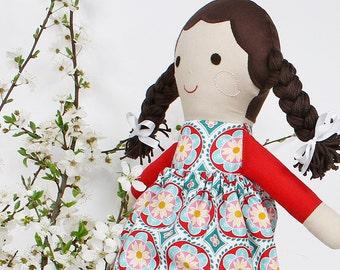 Cloth handmade doll, rag doll, doll for gift, handmade doll