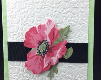 Handmade Note Cards Similar Birthday Thank You Sympathy Botanical # 525