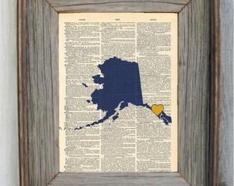 Alaska Print. Dictionary Art Print.