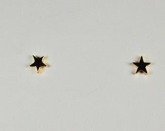 14 kt Yellow Gold Star Earrings