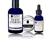 Manly Beard Kit - Beard Oil, Beard Shampoo/Wash, Beard Balm, Beard Care, Beard Gifts, Mens Grooming