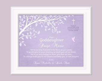Gift For Goddaughter - Goddaughter Gift - Baptism Print - Baby Dedication Gift - Baptism Keepsake - Christening Print