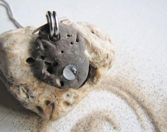 English Holey Stone Pendant, Hag Stone Pendant, Odin Stone Pendant,  Sea Stone Necklace, Northumberland, Wishing Stone, Good Luck Stone