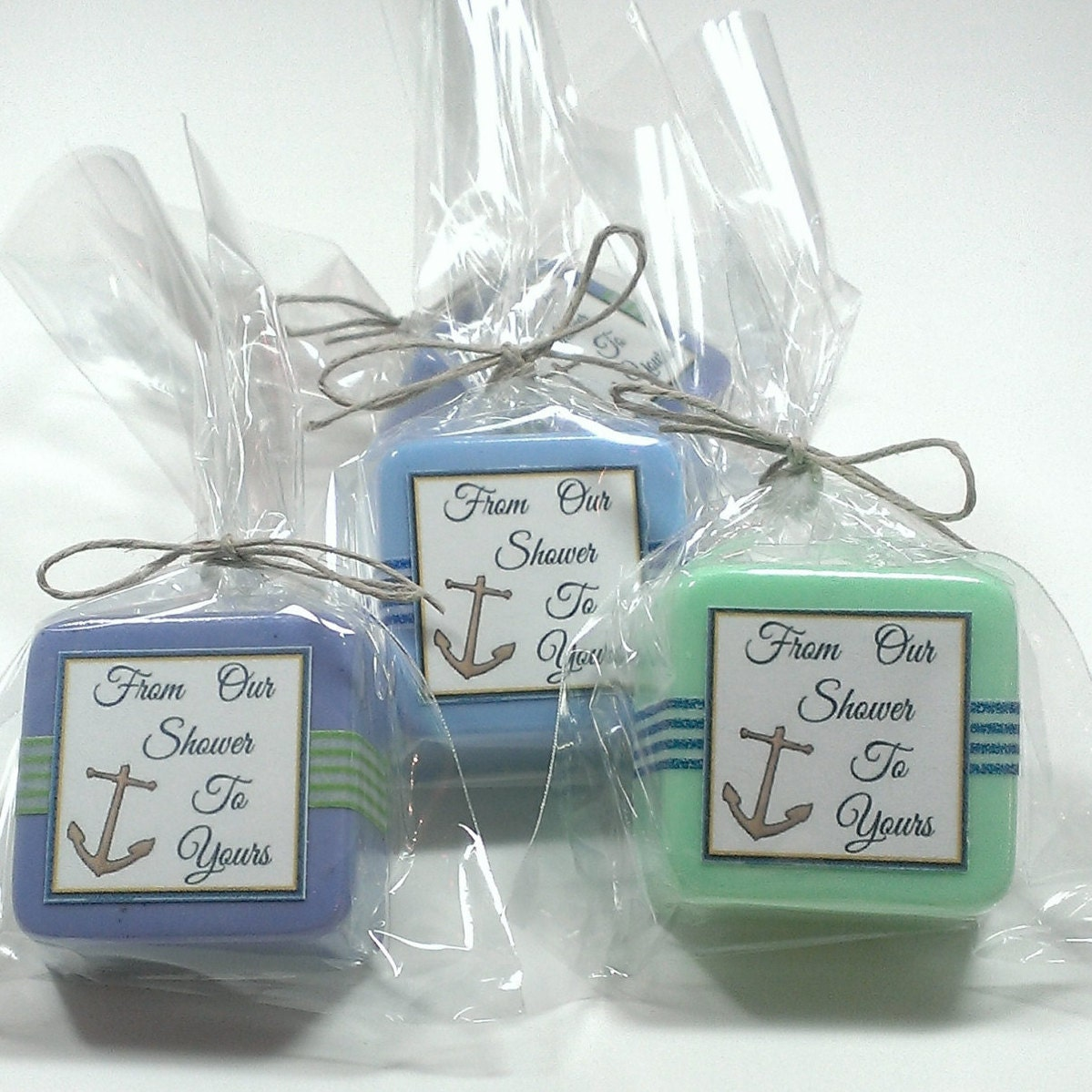 nautical baby shower favors 24 blue and green nautical favors anchor