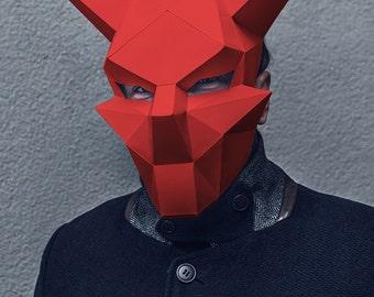 Make your own Devil Mask