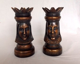 King and Queen Candle Holders (?)