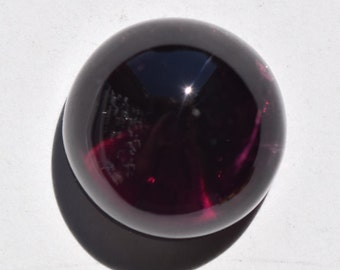Rubellite Tourmaline Cabochon, Intense Dark Pink to Red Rubellite, Circle Shape, 15 mm in dia., 15.55 ct