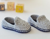 Crocheted Casual Baby Loafers // Baby Boy Shoes