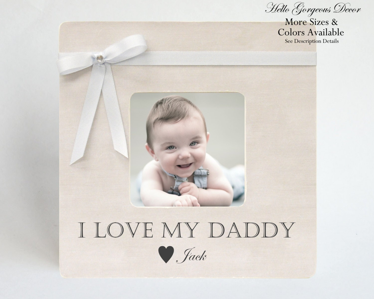 Baby Gift Ideas For New Dad : Gift to dad picture frame father from baby children