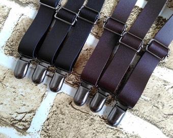 Genuine leather Suspenders,Wedding Suspenders,Groom Wedding Gift,Mens Suspenders,Party Suspenders,Casual Suspenders,Dress Suspenders