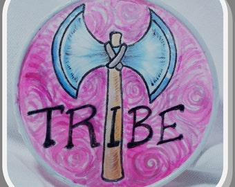 Tribe - Original Silk Painting