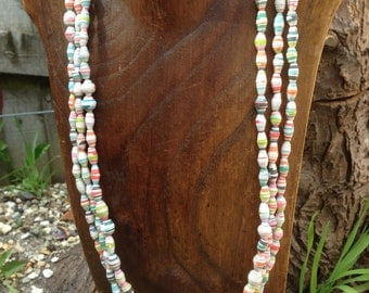 Multistrand Paper Bead Necklace