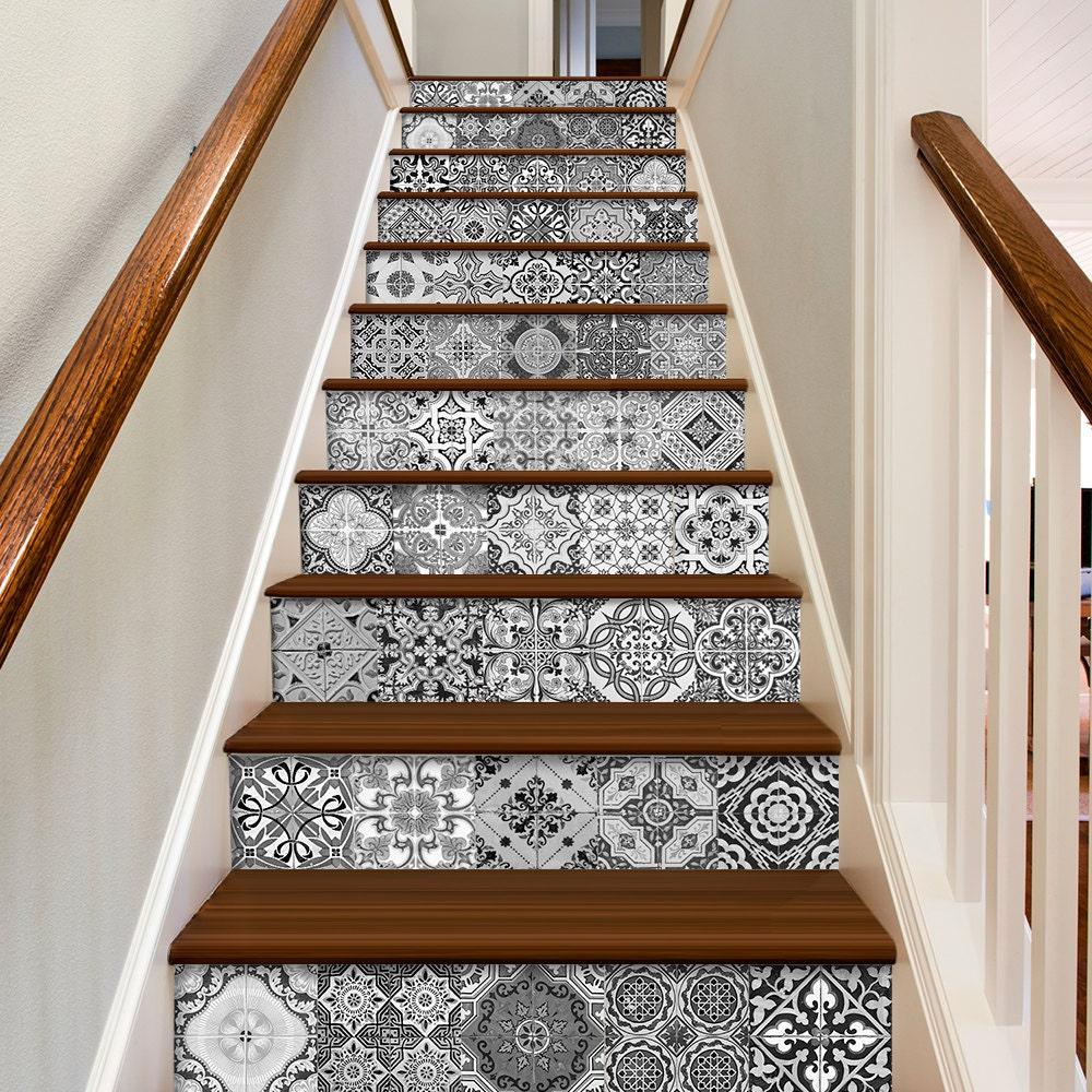 escalier portugais carreaux sticker de d coration pour. Black Bedroom Furniture Sets. Home Design Ideas