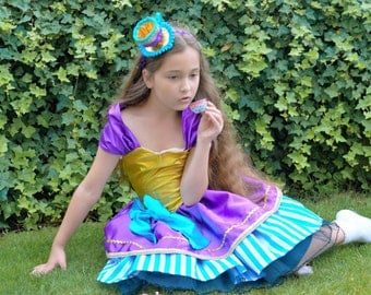 Ever After Hatter Inspired Dress and Teacup Headband