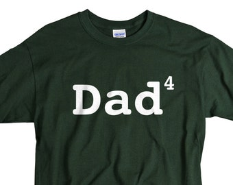 Father's day Gifts for Men Dad 4 children father of four children funny t-shirt Dad 4 shirt tee gift for papa father dad tshirt