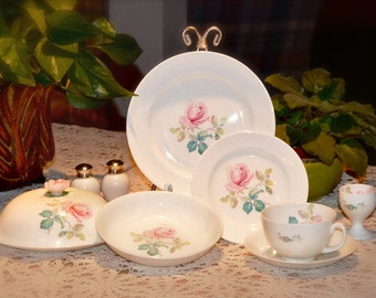 EMBASSY CHINA, Vintage Breakfast Set, One Place Setting, Eight Pieces, Kitchen & Dining, Made In England