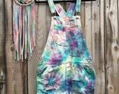 One of a Kind Tie-Dye American Eagle Boyfriend Style Overalls Size Extra Small-1 tree is planted with every purchase