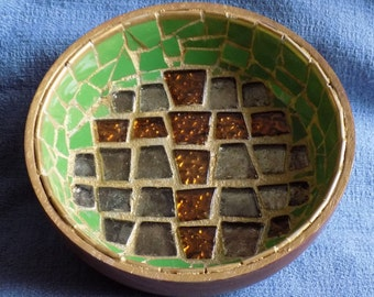 One Of A Kind Mosaic Cross Candy Bowl