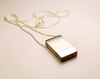 Silver 925 pendant USB 16 - 32- 64 GB  and olive wood
