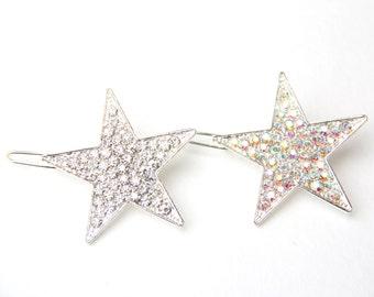 Star Hair Clip, Star Clip, Star Barrette, Star Hair Barette, Star Hair Pin, Star Hair Accessories, Hair Clip, Rhinestone Hair Clip, Star