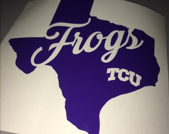 TCU Yeti Decal - Yeti Decal - TCU Horned Frogs Decal - TCU Car Decal - Texas sticker - Texas Christian University - Free Shipping!!