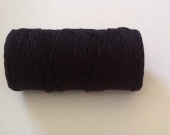 Black Bakers Twine, 50 Meters Cotton Bakers Twine.  Black Twine, Craft Twine.  Package Twine