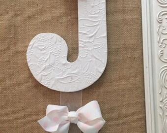 Custom Made personalized hair bow hanger for little girls room
