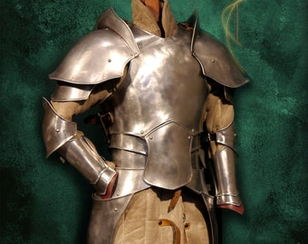 Armor made of metal in the Elvish style, unique
