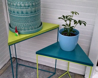 Triangle Accent Tables with Funky Colors