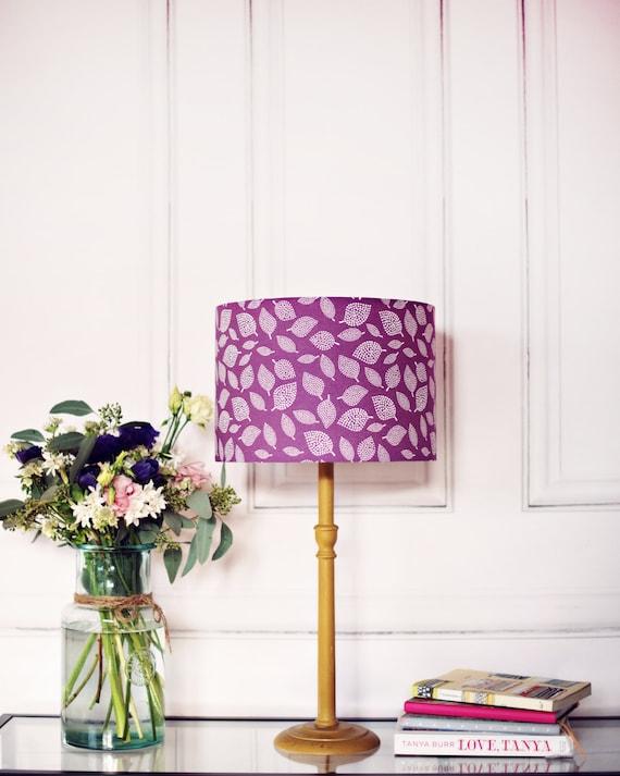 Purple lamp shade purple scandi lampshade purple bedroom for Handmade decorative items for bedroom