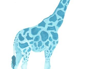 Blue Giraffe Print - 8x10