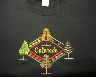 Embroidered Sweatshirts, 4 Seasons, Colorado, Gifts
