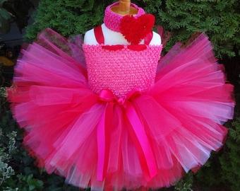 Pink Red Dress, Baby Tutu, Valentine Tutu Dress, Toddler Tutu Dress, Baby Pink Dress, Baby Valentine Dress, Pink Tutu Dress, Birthday Dress