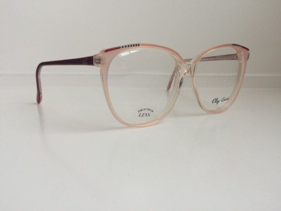 vintage pink eyeglass frames oversized eyeglasses cat eye horn rim light pink clear glasses