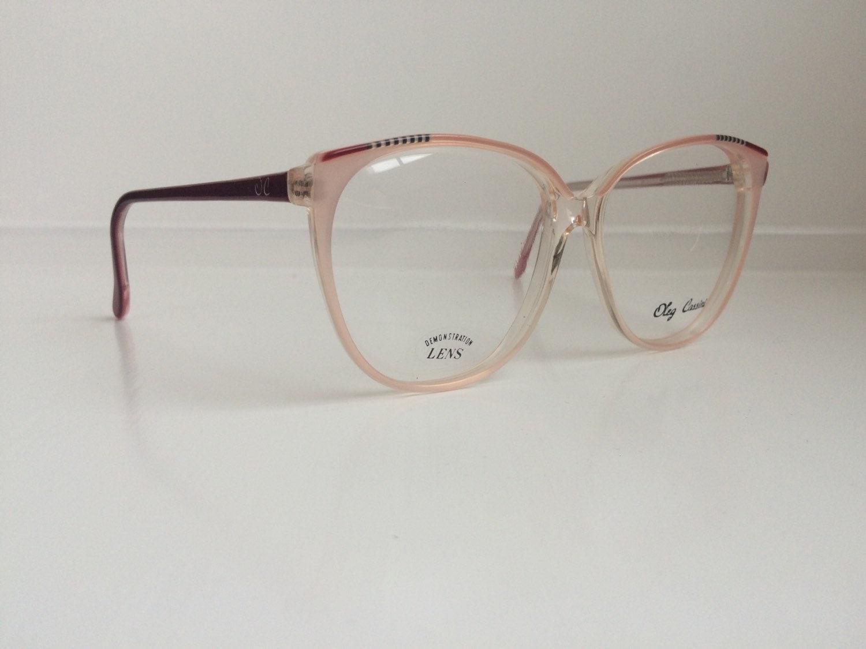 vintage pink eyeglass frames oversized eyeglasses cat eye