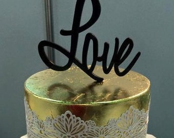 Love Cake Topper for Weddings, Engagement or Anniversary Cakes